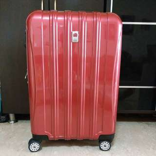 Delsey helium Aero luggage Red 71cm