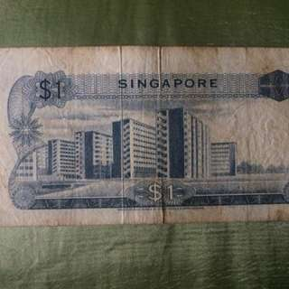 Old Singapore $1 note