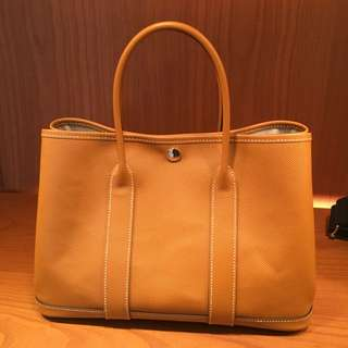 全新Hermes Garden Party 30 Toffee epsom