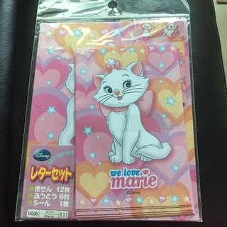 Disney Marie 富貴貓 信紙