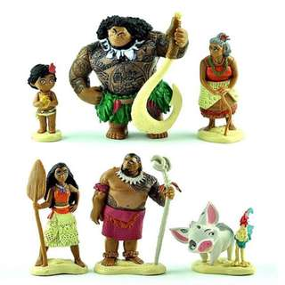 Instock now!! Moana cake Toppers Brand New 6pcs set