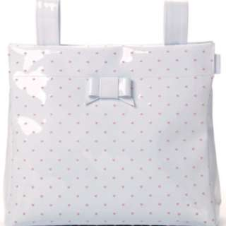 PASITO A PASITO SMALL CHANGING BAG WHITE LEATHER – EMBROIDERED POLKA DOT