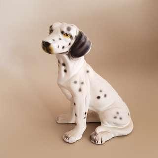 15cm vintage porcelain dog