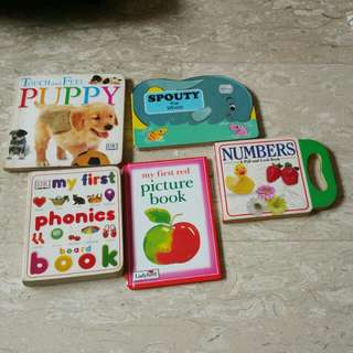 Assorted story books ($0.50)