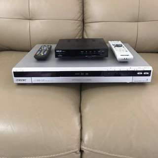 Sony HDD/DVD 160GB 錄影機 & AKAI 高清機頂盒