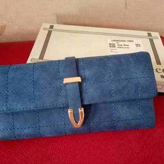 Suede blue wallet