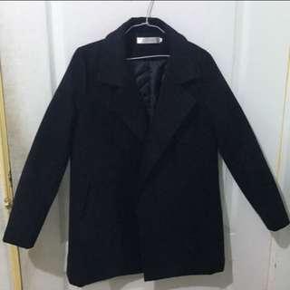 韓版大衣 深藍色