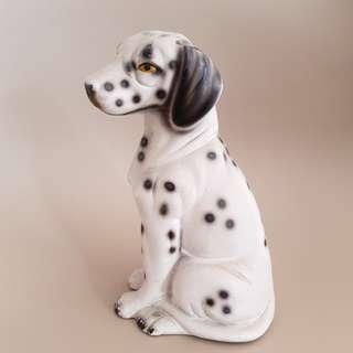 14cm vintage porcelain dog