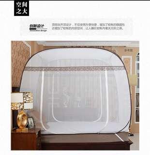 谷今2門蚊帳(回型底)免安裝蒙古包(5尺)
