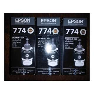 Epson T774 Black Pigment Ink Bottles