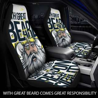 With a Great Beard comes Great Responsibility Car Seat Covers