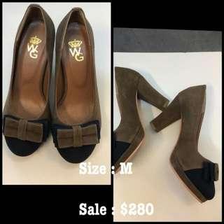 日本絨面高跟鞋 size M  $180