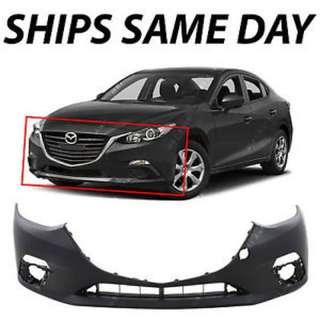 Mazda 3 original front bumper (white)