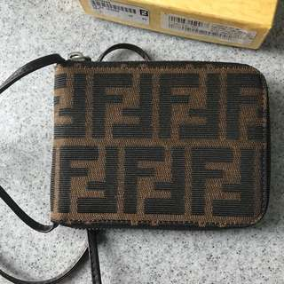 Vintage Fendi Monogram Bifold Zip Wallet - never used