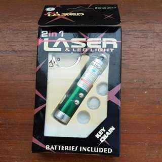 Laser light with keychain
