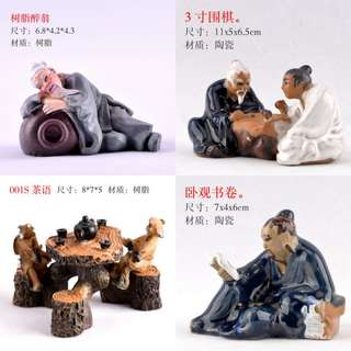 Bonsai Accessories: Chinese Figurine Drunk Man Etc