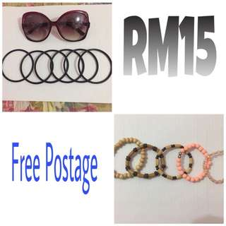 (Free Postage) Bracelets and Shades