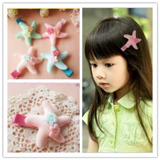 CNY Girl Hair Clips - Star Fish