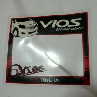 Vios roadtax Sticker