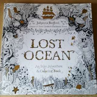 Colouring Book - Lost Ocean by Johanna Basford
