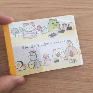 Mini memopad Summiko Gurashi sushi series