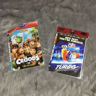 Croods, Turbo Kids Dvd Movie Shows