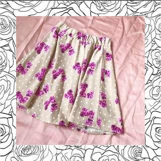 floral mini flare skirt
