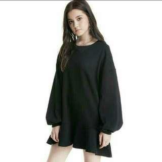 #huat50sale INSTOCK | Wardrobemess Ruffled Bottom Pullover Dress (Black)