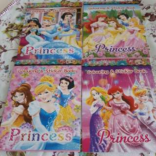 Disney Princess coloring books and stickers