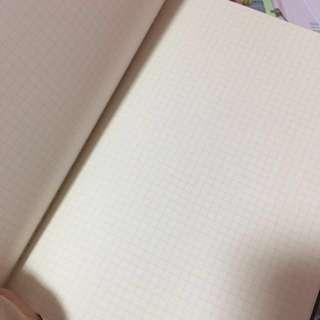 BN Muji square box note book 5mm