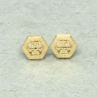 Tory Burch Sample Earrings 金色六角形耳環 沒有原裝耳環托