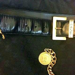 經典Chanel鍍金掛鍊款皮帶(珍藏品早期經典款)