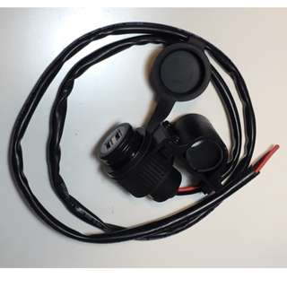 Motorcycle Dual USB Charger with clamp