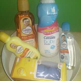Paket All in produk cussons baby + dot bayi
