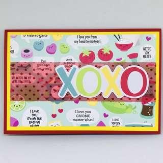 Handmade xoxo card