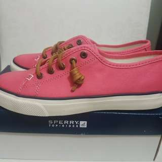 Sperry Seacoast Canvas Sneakers, Coral (Size 5.5 US)