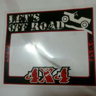 Off Road Roadtax Sticker