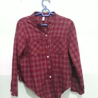 Basic plaid outerwear