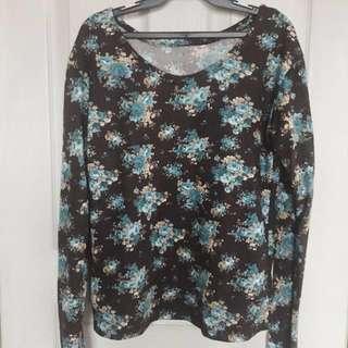 Floral pullover (sweater/ sweatshirt)
