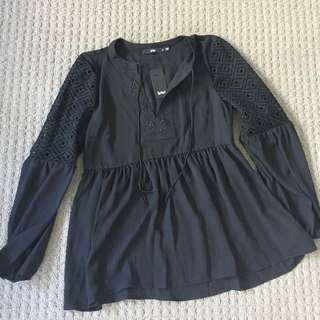 Sports Girl Black Lace Blouse