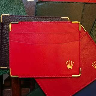 Rolex Ted Leather Cardholder Bew Old Stock