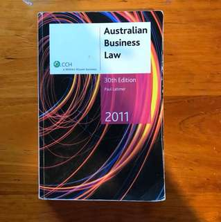 Australian Business Law 30th Edition