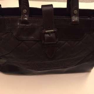 Belstaff business bag. Wax canvas Vachetta leather trim W:47cm H:30cm