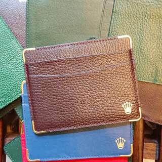Rolex Brown Leather Cardholder New Old Stock 勞力士