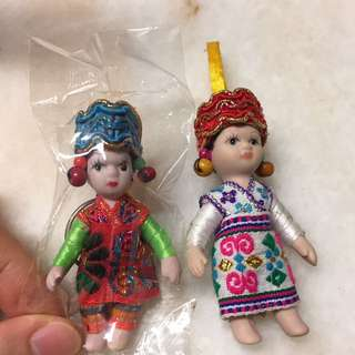 Thai Cambodia doll key chain