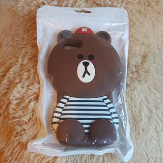 Iphone 6/6+ line friends brown iphone case