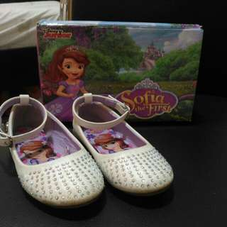 Sofia the First white closed shoes