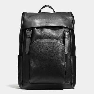 HENRY BACKPACK IN PEBBLE LEATHER 72311 ORIGINAL OUTLET