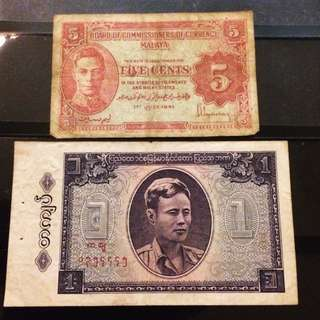#HUAT50Sale Vintage Asian Notes