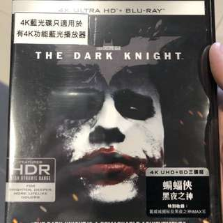 蝙蝠俠 黑夜之神 the dark knight 4k uhd bluray disc